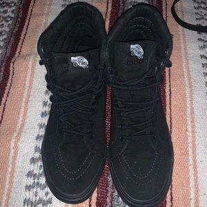 All Black Oldskool Hightop Vans